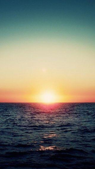 Обои на телефон море, закат, sea sunset, dzv, dehn