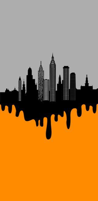 Обои на телефон анимационные, черные, оранжевые, black orange