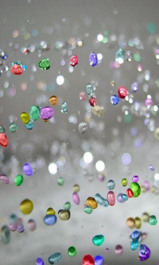 Обои на телефон кристаллы, брызги, абстрактные, 3д, 3d