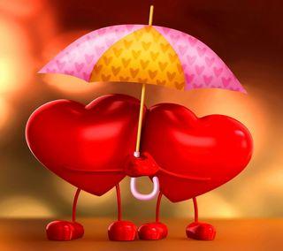 Обои на телефон амбрелла, сердце, любовь, love