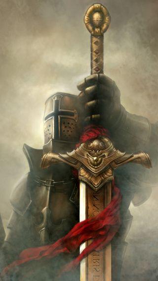 Обои на телефон рыцарь, меч, templar, order, knights templar, crusades
