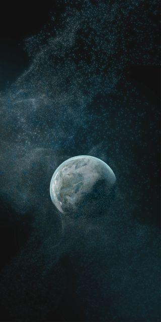 Обои на телефон пришелец, фантазия, темные, синие, рок, природа, планета, одиночество, ночь, крутые, космос, земля, звезды, галактика, galaxy