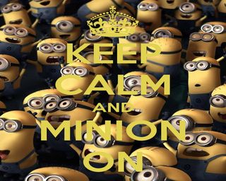 Обои на телефон спокойствие, миньоны, minion on, keep calm, keep
