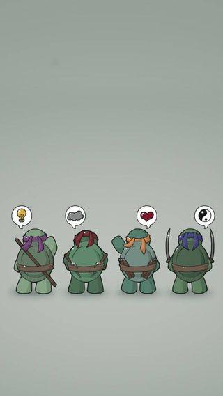 Обои на телефон ниндзя, черепаха