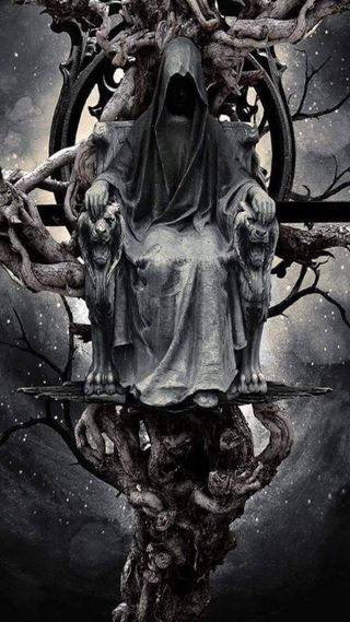Обои на телефон тьма, черные, трон, темные, ночь, мрачные, жнец, дерево, готические, vine, reapers dark throne