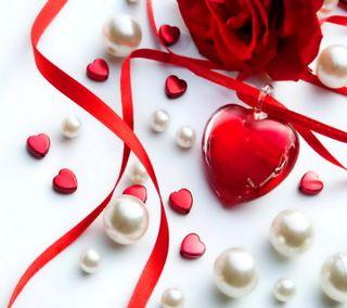 Обои на телефон сердце, розы, любовь, жемчуг, love