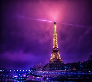 Обои на телефон париж, фиолетовые, свет, классные, башня, paris hd, eifel tower