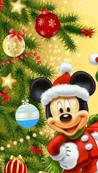Обои на телефон рождество, дисней, дерево, mikky mause, disney