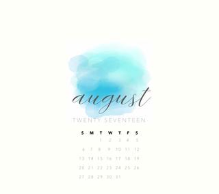 Обои на телефон календарь, синие, акварель, август, blue watercolor, aug