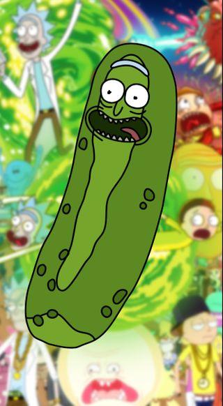 Обои на телефон рик, морти, pickle