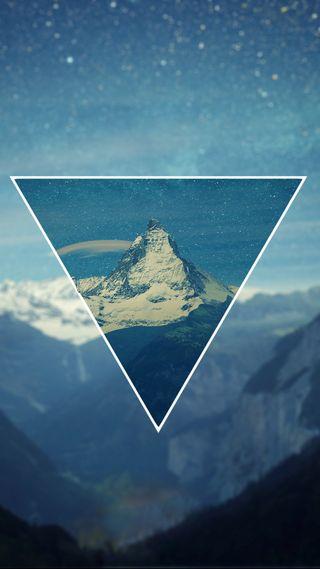 Обои на телефон треугольник, горы, 2016