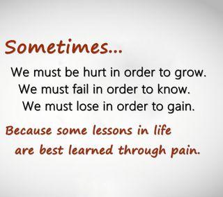 Обои на телефон gain, grow, through pain, новый, цитата, поговорка, боль, повредить, неудача, учить