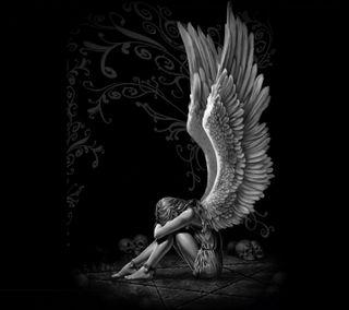 Обои на телефон грустные, ангел, sad angel, ghfj, fgsd