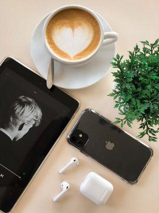 Обои на телефон премиум, эпл, утро, кофе, дизайн, айфон, pills, nescafe, iphone, good, apple, airpods