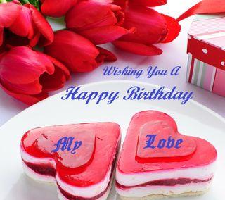 Обои на телефон пожелание, ты, счастливые, сердце, приятные, любовь, день рождения, love, happy