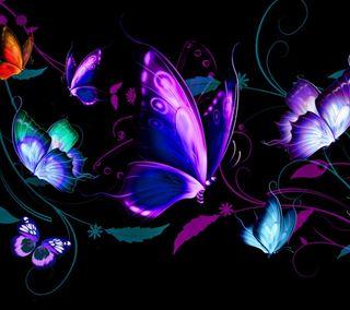 Обои на телефон бабочки, абстрактные