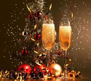 Обои на телефон шампанское, напиток, рождество, новый, алкоголь, nye, new years