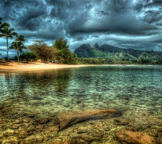 Обои на телефон развлечения, синие, приятные, природа, прекрасные, небо, лучшие, дерево, горы, вода