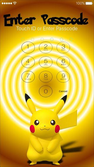 Обои на телефон экран, покемоны, пикачу, xando, passcode, locking screen