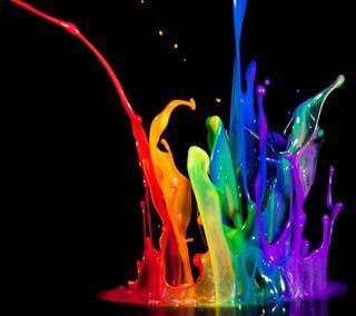 Обои на телефон брызги, цветные, рисунки, вода