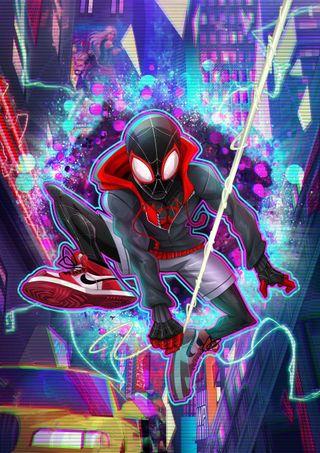 Обои на телефон фильмы, паук, моралес, мальчик, майлз, костюм, веб, taxi