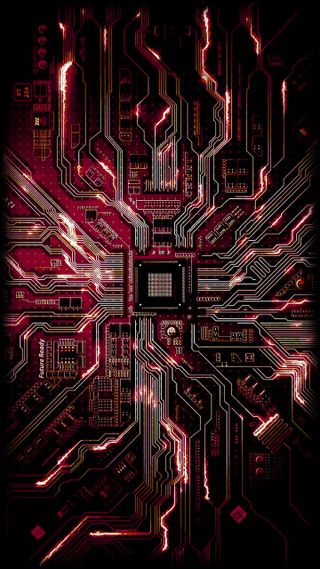 Обои на телефон технология, ретро, chip