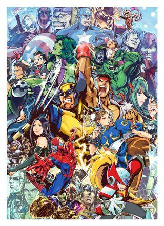 Обои на телефон человек паук, халк, росомаха, против, марвел, дэдпул, америка, zero, x-23, she-hulk, marvel vs capcom 3, chun-li