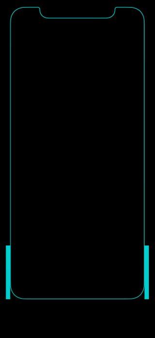 Обои на телефон цвет морской волны, черные, граница, грани, thex, the x cyan
