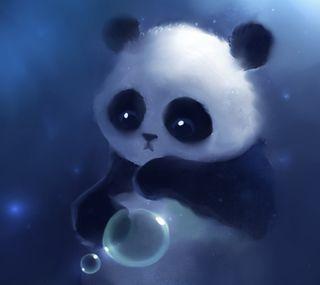 Обои на телефон buble, милые, животные, панда, медведь, пушистые