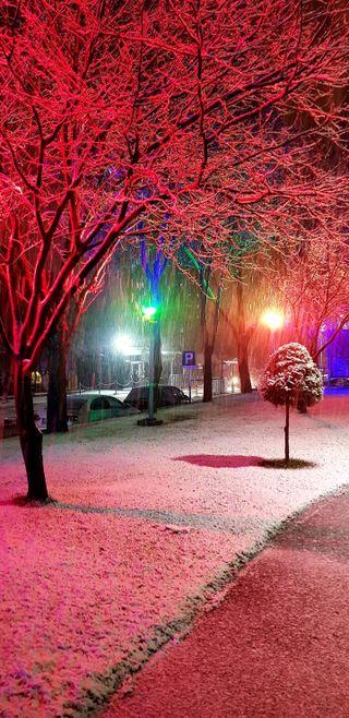 Обои на телефон снег, свет, огни, город, ночь, красые, зима, здесь, rednight