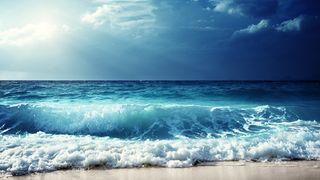 Обои на телефон океан, пляж, море, закат, горы, вид