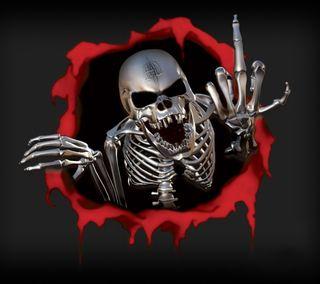 Обои на телефон скелет, череп, стальные, металл, кости
