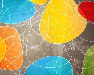 Обои на телефон цветные, фон, круги, абстрактные