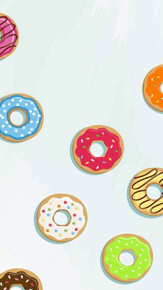 Обои на телефон nuts, donuts, do