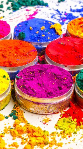 Обои на телефон фестиваль, цвета, холи, пожелания, логотипы, индия, bowls of colours