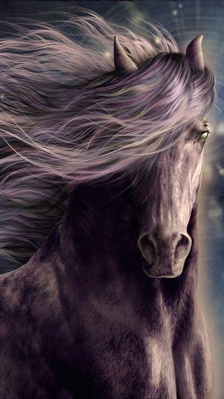 Обои на телефон лошадь, фантазия