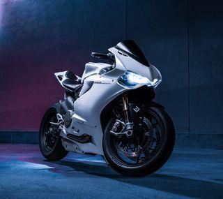 Обои на телефон мотоциклы, дукати, италия, белые, байк, ducati