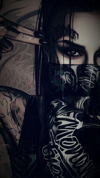 Обои на телефон тату, ночь, анархия