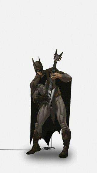 Обои на телефон анимация, гитара, бэтмен, batman with guitar