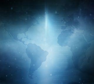Обои на телефон смысл, карта, синие, мир, глобус, вдохновляющие, world map, one x, one, htc, desire