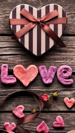 Обои на телефон валентинка, сердце, любовь, love