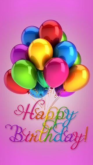 Обои на телефон шары, счастливые, красочные, дизайн, день рождения, happy
