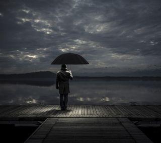 Обои на телефон скучать, ты, одиночество, мальчик, дождь, грустные, амбрелла, with umbrella, in rain