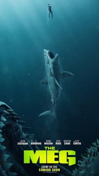 Обои на телефон акула, экшен, фильмы, рыба, пляж, лето, zedgethemeg, the meg 6, the meg, statham, megalodon