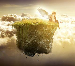 Обои на телефон форма, небеса, прекрасные, крылья, девушки, ангел, angel form above
