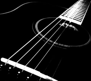 Обои на телефон ямаха, черные, гитара, белые, yamaha fs720, yamaha