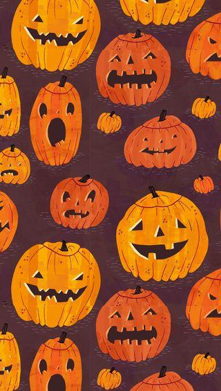 Обои на телефон тыква, шаблон, хэллоуин, occassion