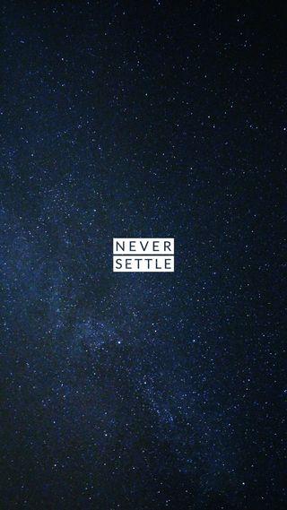 Обои на телефон решить, ночь, никогда, небо, звезды, never settle