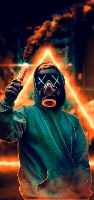 Обои на телефон парень, маска, король, yunus, mask guy 1