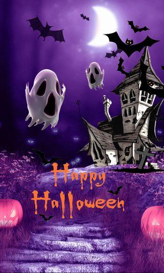 Обои на телефон тыква, хэллоуин, призрак, ночь, ghost